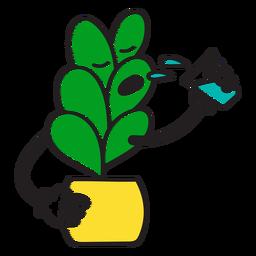 Thirsty plant cartoon