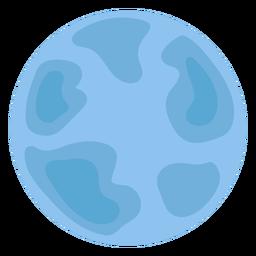 Blue neptune planet flat