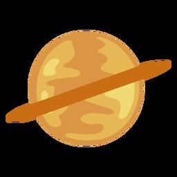 Planeta Saturno com anel plano
