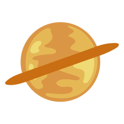 Saturn planet ring flat