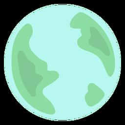 Earth planet flat