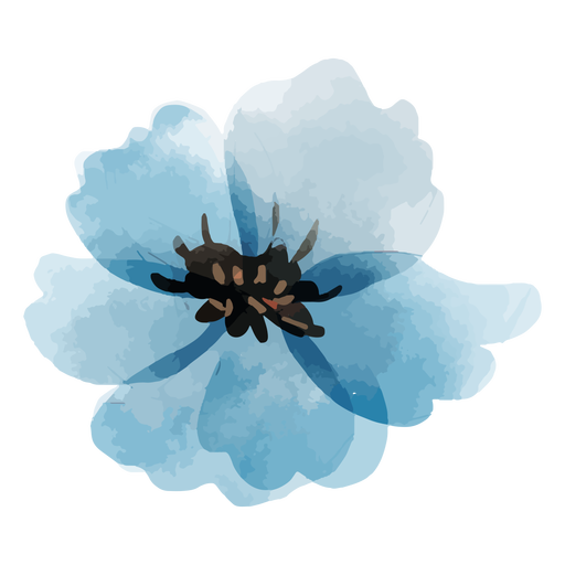 Flower perennial flax watercolor