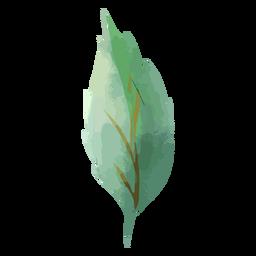 Watercolor tree leaf