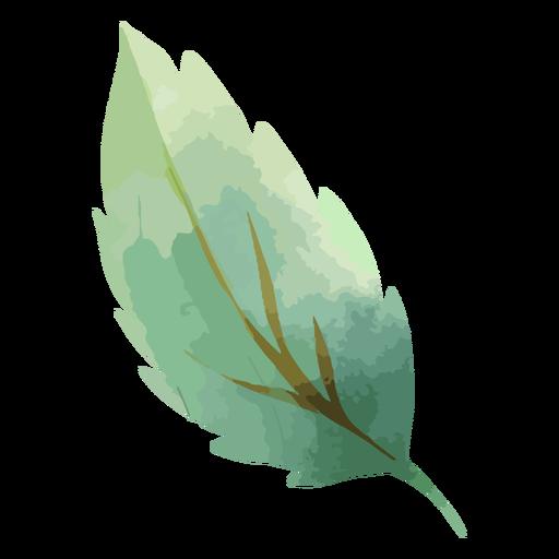 Tree leaf watercolor