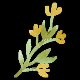 Rama de hojas de acuarela