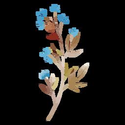 Flores de acuarela azul