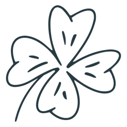 Stroke four-leaf clover