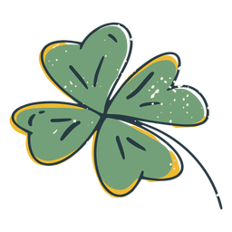 Four leaf clover color-stroke