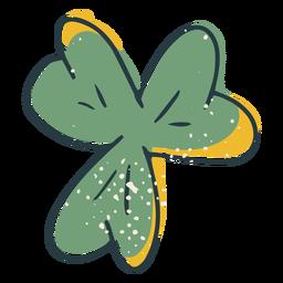 Traço colorido de trevo de quatro folhas tradicional