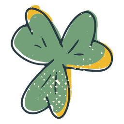 Traditional four leaf clover color-stroke