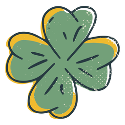 Traditional clover color-stroke