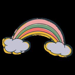 Linda pincelada colorida de arco-íris