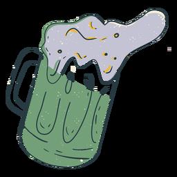 Beer jug color-stroke