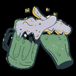 Beer jug clash color-stroke