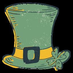 Chapéu irlandês da sorte com traço colorido