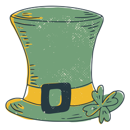 Lucky irish hat color-stroke