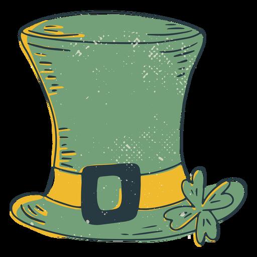 Sombrero irlandés de la suerte trazo de color
