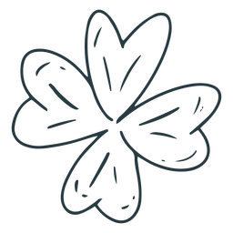 Traditional clover stroke