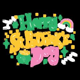 Letras coloridas do Feliz Dia de São Patrício