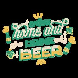 Fique em casa e beba letras de cerveja