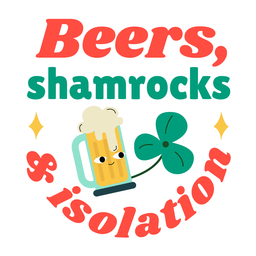 Beer and isolation badge
