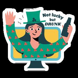 Distintivo de bêbado da sorte