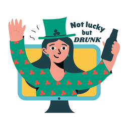 Lucky drunk badge