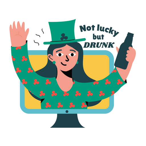 Lucky drunk badge