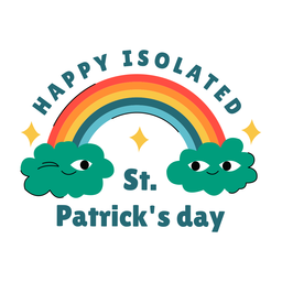 Happy isolated st patricks badge