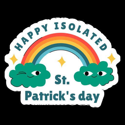 Happy isolated st patricks badge