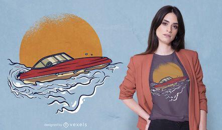 Sport Motorboot T-Shirt Design
