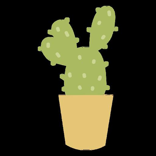 Planta de desierto cactus plano Transparent PNG