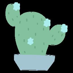 Flor de cactus plana