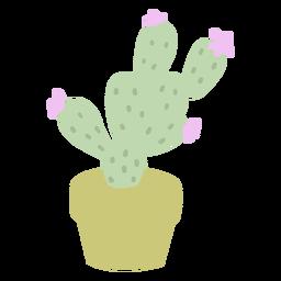 Desert plant pot flat