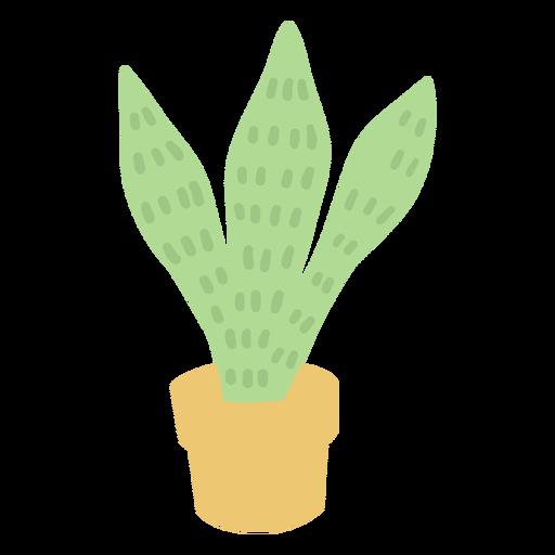 Maceta cactus amarilla plana