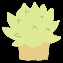 Small plant pot flat