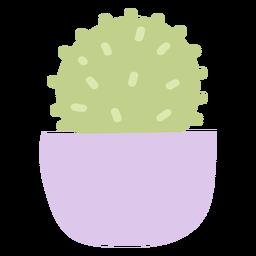 Small cactus pot flat
