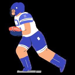 American football player flat
