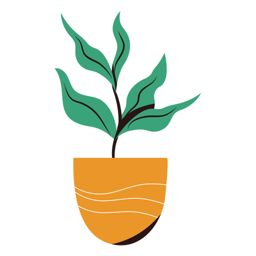Plant in pot flat Transparent PNG