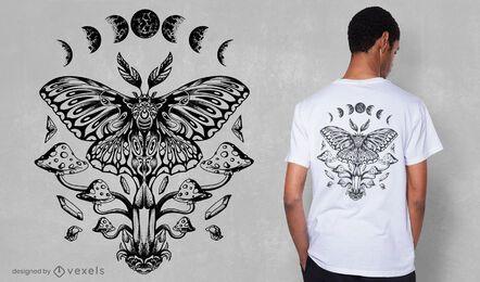 Diseño de camiseta Luna Moth