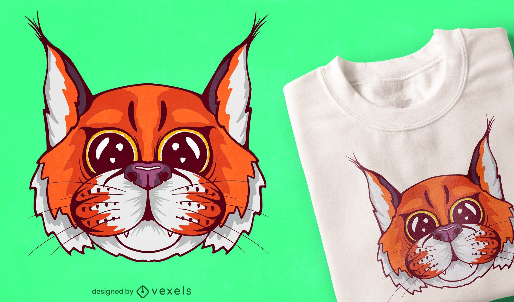 Diseño de camiseta de bebé lince