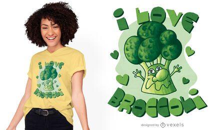 Diseño de camiseta amante del brócoli