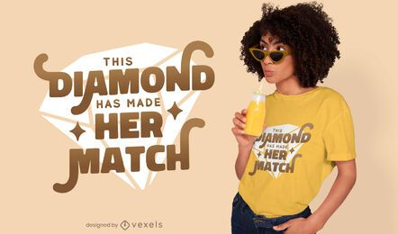 Diamond match t-shirt design