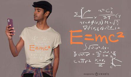 Diseño de camiseta de equivalencia de energía masiva