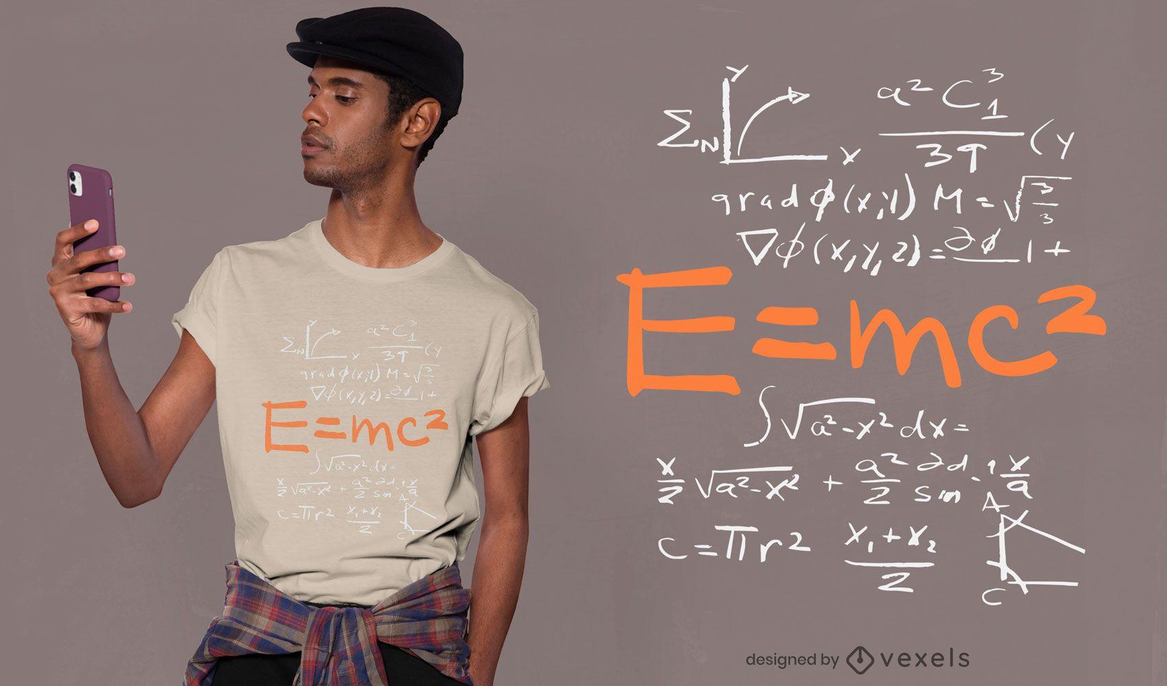 Dise?o de camiseta de equivalencia de energ?a masiva