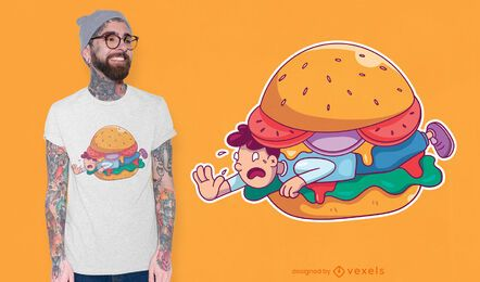 Burger man t-shirt design