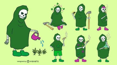 Grim reaper weed character set