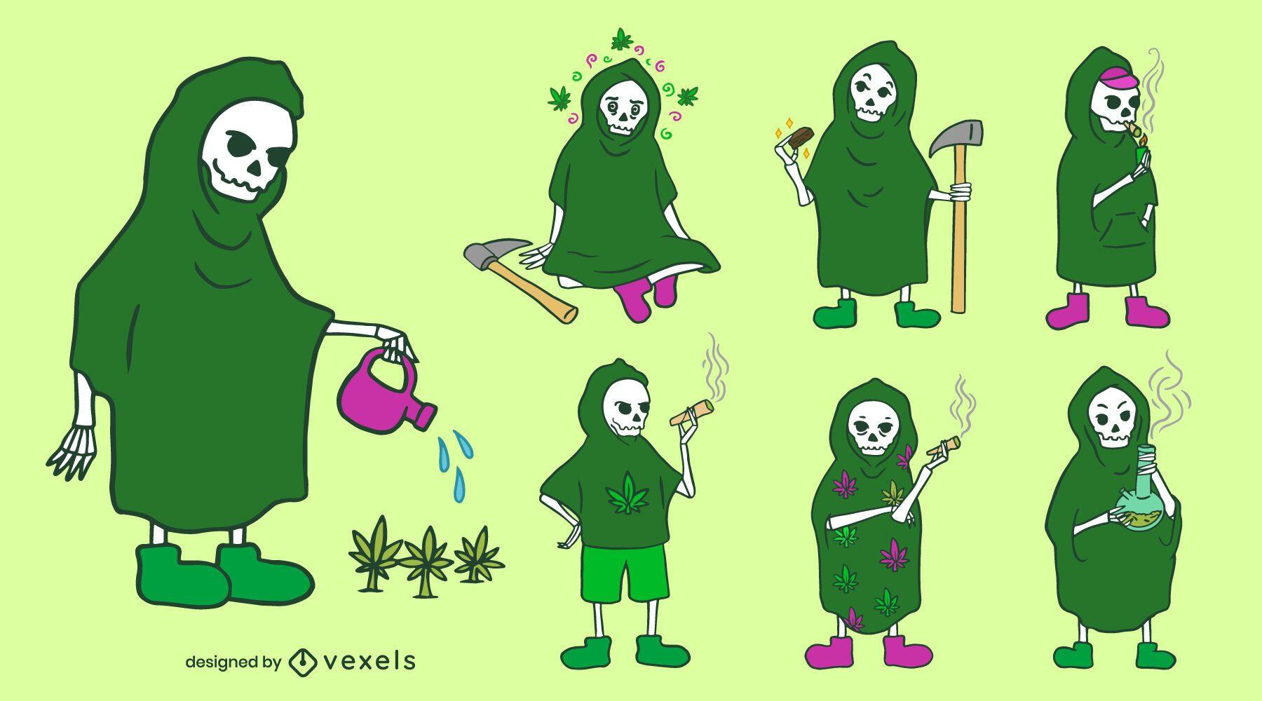 Grim reaper weed character set