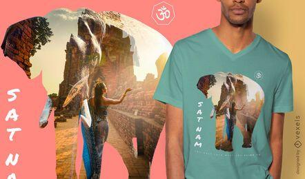 Design de t-shirt psd mulher Sat nam mulher