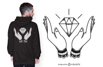 Hands diamond t-shirt design